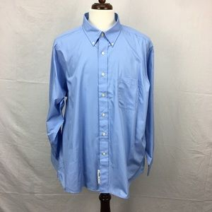 Chaps Blue Regular Fit Button Down Shirt